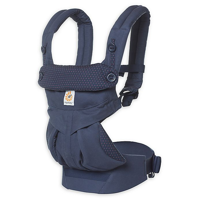 Alternate image 1 for Ergobaby™ 360 All Positions Baby Carrier in Navy Mini Dots