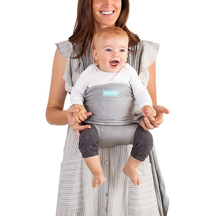 Moby Wrap Fit Baby Carrier In Grey Buybuy Baby