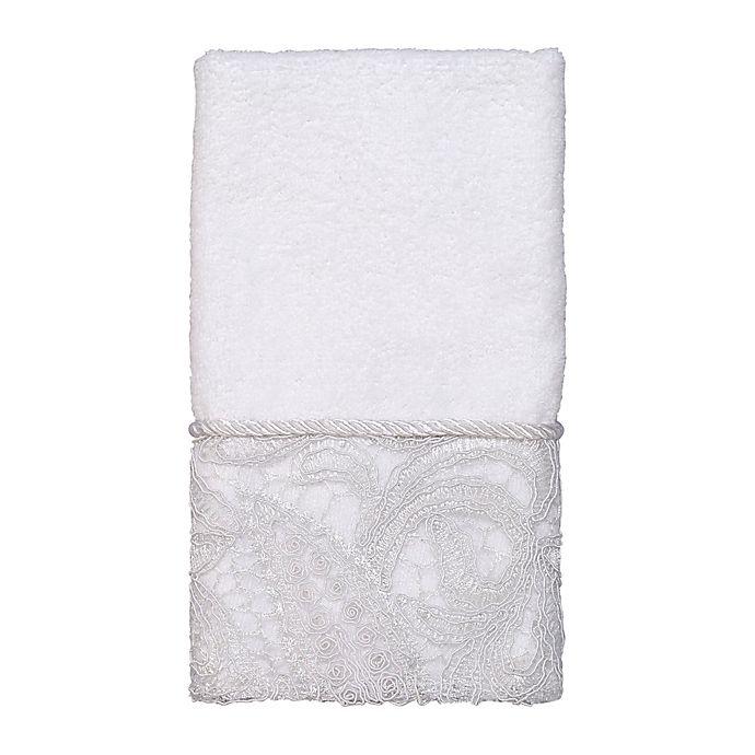 Alternate image 1 for Avanti Grace Fingertip Towel in White