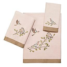Avanti Bird Choir II Bath Towel Collection in Pale Pink