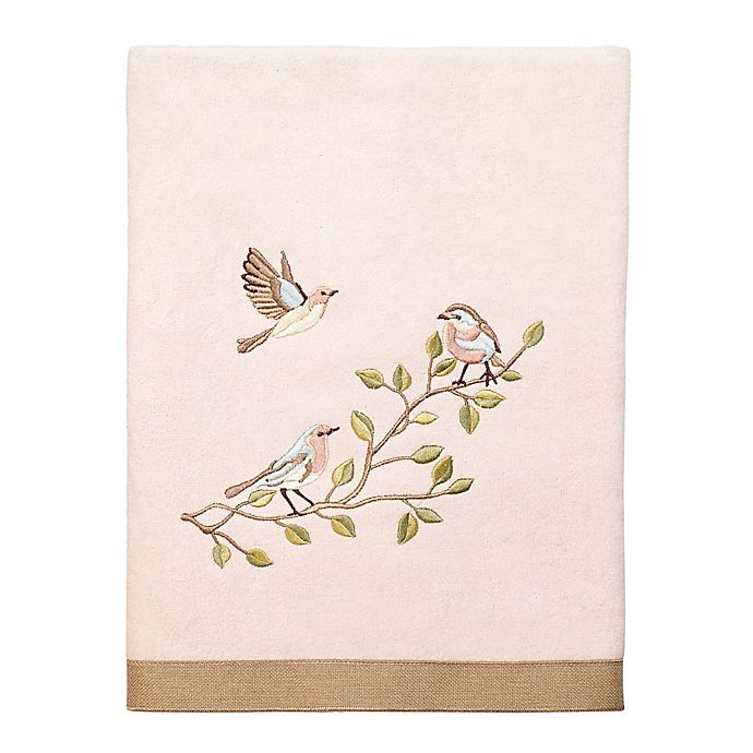 Alternate image 1 for Avanti Bird Choir II Bath Towel in Pale Pink