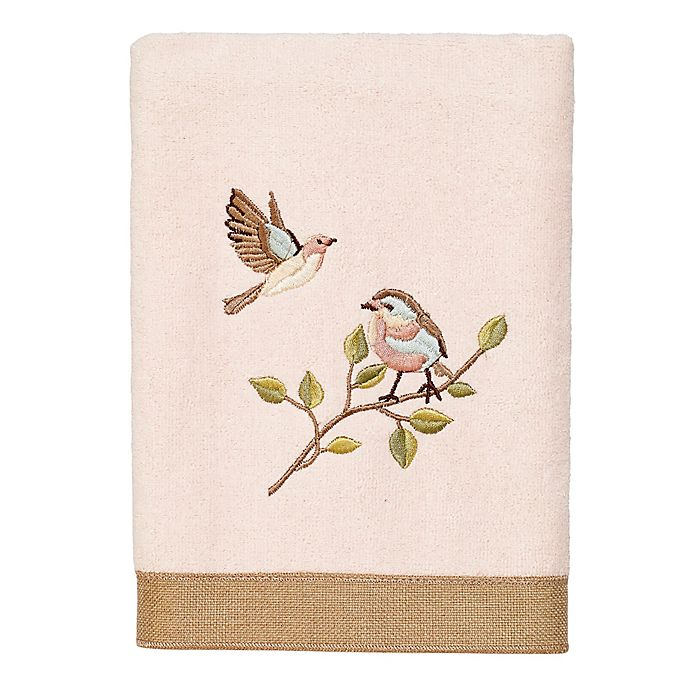 Alternate image 1 for Avanti Bird Choir II Hand Towel in Pale Pink