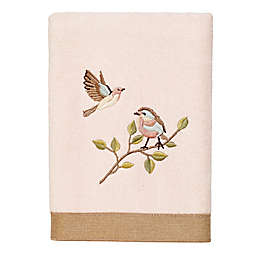 Avanti Bird Choir II Hand Towel in Pale Pink