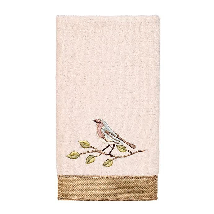 Alternate image 1 for Avanti Bird Choir II Fingertip Towel in Pale Pink