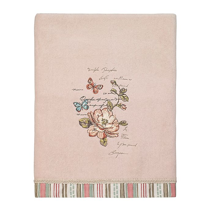 Alternate image 1 for Avanti Butterfly Garden Bath Towel in Pale Pink