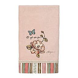 Avanti Butterfly Garden Hand Towel in Pale Pink