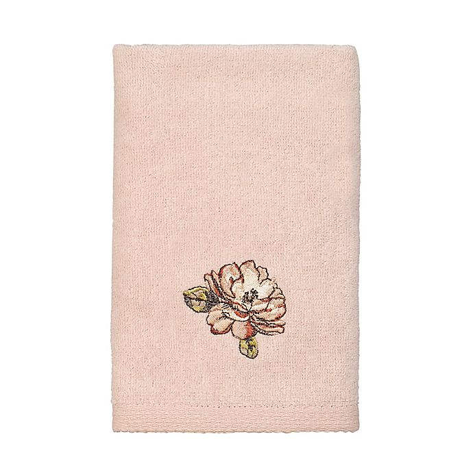 Alternate image 1 for Avanti Butterfly Garden Fingertip Towel in Pale Pink