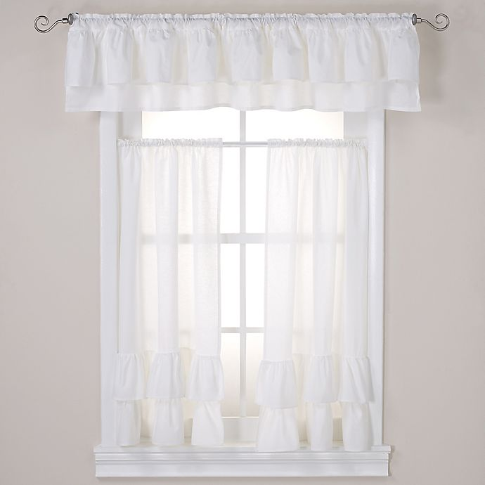 Alternate image 1 for Wamsutta® Vintage Ruffle Tailored Window Treatment Collection