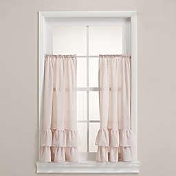 Wamsutta® Vintage Ruffle Tailored Window Panel Pair in Blush