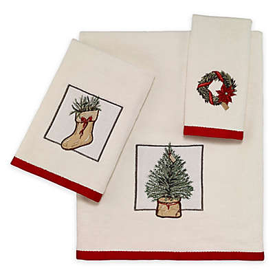 Avanti Farmhouse Holiday 3 Piece Towel Set
