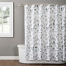 SKL Home Windsor Leaves 72-Inch x 96-Inch Shower Curtain in Grey