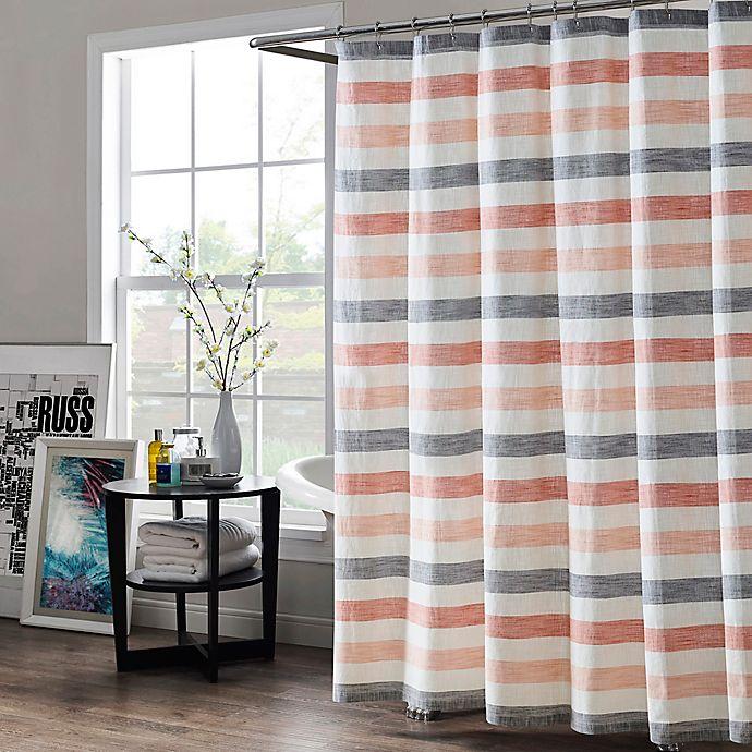 Alternate image 1 for Kas Room Greta Striped 72-Inch x 84-Inch Shower Curtain in Blush