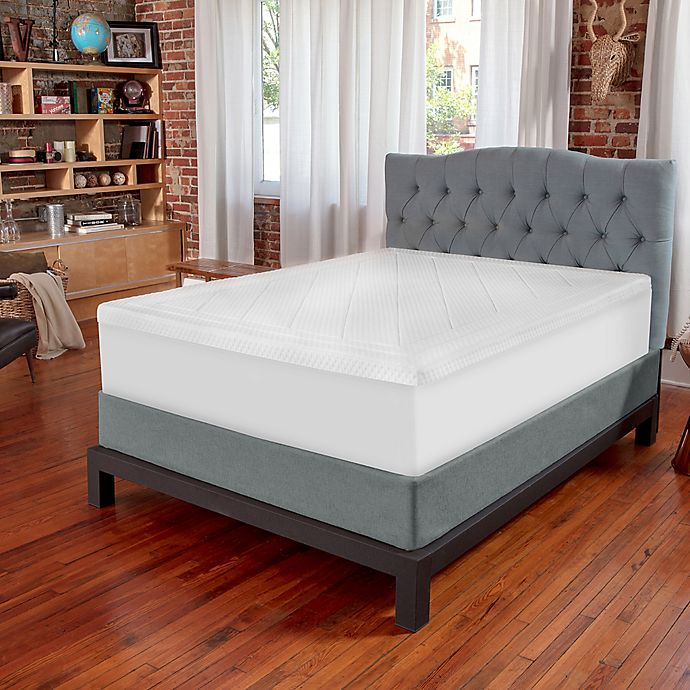 Alternate image 1 for Therapedic® Deluxe Quilted 3-Inch Memory Foam Full Mattress Topper