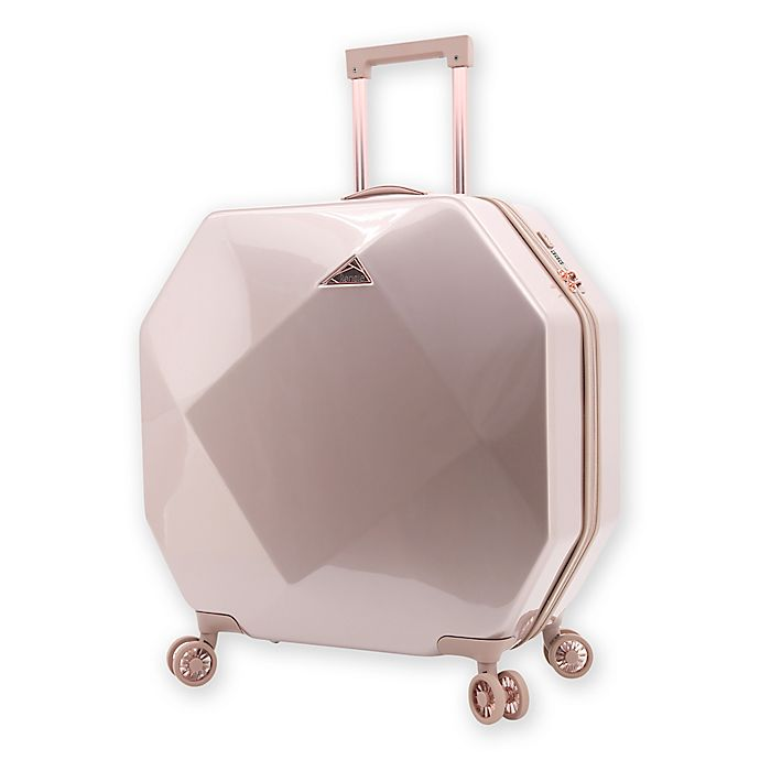 Alternate image 1 for Kensie Gemstone 24-Inch Hardside Spinner Checked Luggage