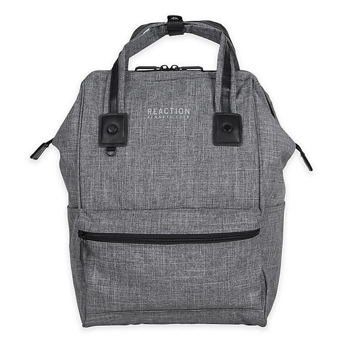 9dc45da575a6 Kenneth Cole Reaction Wide-Mouth Laptop Backpack in Grey | Bed Bath ...