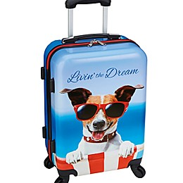 "Overland Travelware ""Livin' the Dream"" 22-Inch Carry On Luggage in Blue"