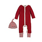 Burt's Bees Baby® Size 3-6M 2-Piece Organic Cotton Thermal Coverall and Cap Set in Red