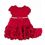 Nannette Baby® Size 0-3M Rhinestone Rosette Dress in Red