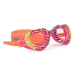Zebra Heart Swim Goggles in Red