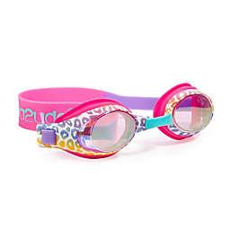 Zebra Rhinestone Swim Goggles in Rainbow