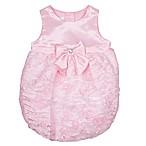Nanette Baby® Size 3-6M Satin Ribbon Bubble Romper in Pink