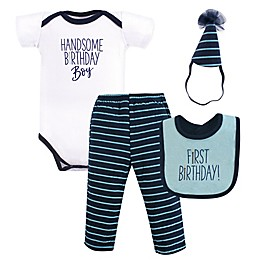 Hudson Baby® 4-Piece Handsome Boy 1st Birthday Gift Set