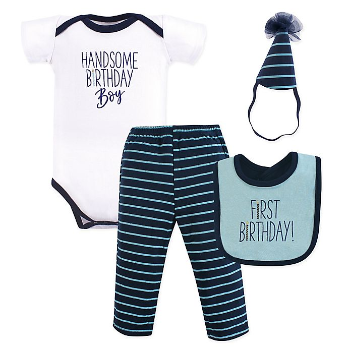bb731cd199a9 Hudson Baby® 4-Piece Handsome Boy 1st Birthday Gift Set