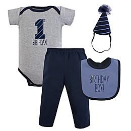 Hudson Baby® 4-Piece Birthday Boy 1st Birthday Gift Set