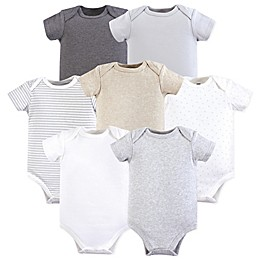 Hudson Baby® 7-Pack Hanging Bodysuits in Beige