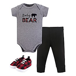 Little Treasures 3-Piece Baby Bear Bodysuit, Pants & Shoes Set