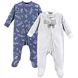 Yoga Sprout 2-Pack Forest Sleep & Play Pajamas in Blue
