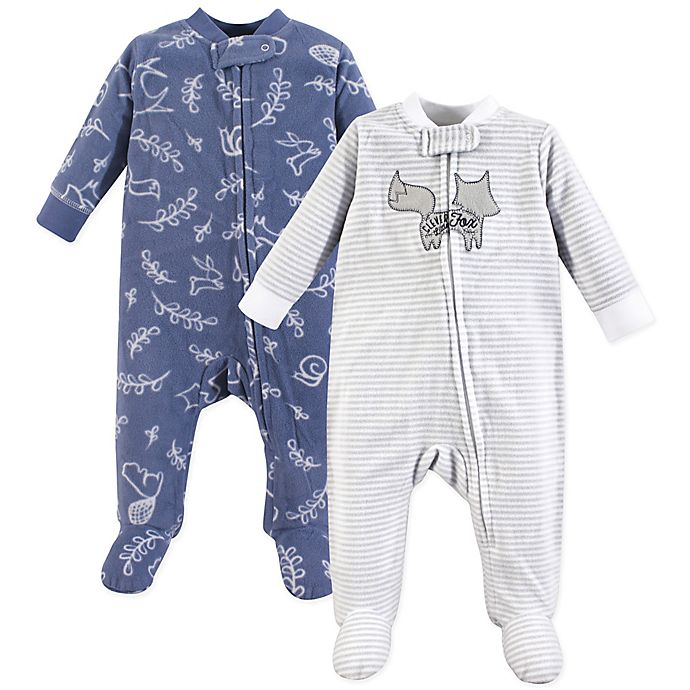 Alternate image 1 for Yoga Sprout 2-Pack Forest Sleep & Play Pajamas in Blue