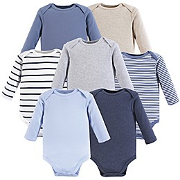 Hudson Baby® 7-Pack Long-Sleeve Bodysuits in Blue