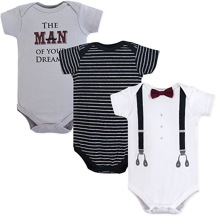 3c7743ecd Little Treasures 3-Pack Man of My Dreams Bodysuits in Black | buybuy ...