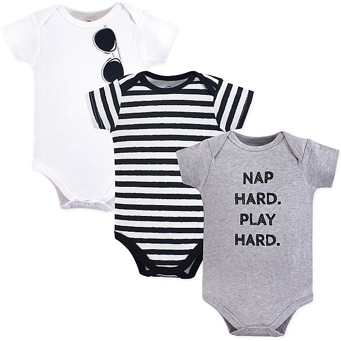 428dafad8 Little Treasures 3-Pack Nap Hard Bodysuits in Grey | buybuy BABY