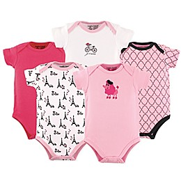 Luvable Friends® Poodle 5-Pack Bodysuits in Pink