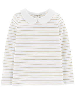OshKosh B'gosh® Lurex Stripe Top in Ivory