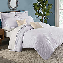 KAS ROOM Terrell Full/Queen Duvet Cover in White
