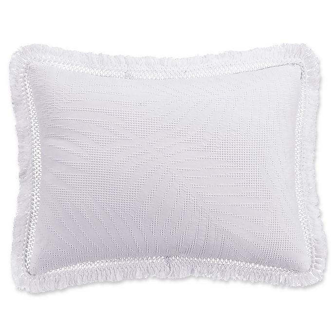 Alternate image 1 for KAS ROOM Terrell King Pillow Sham in White