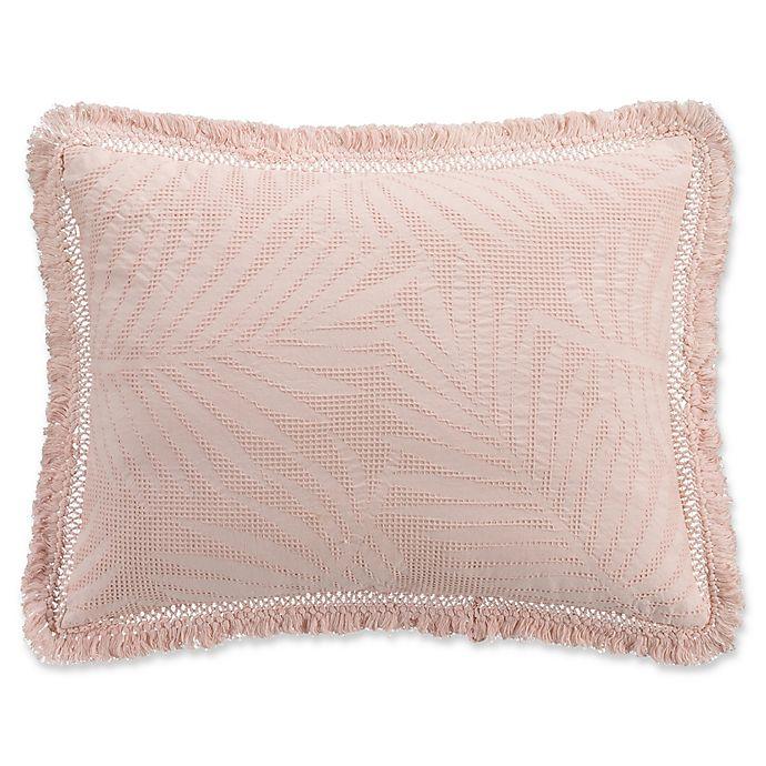 Alternate image 1 for KAS ROOM Terrell King Pillow Sham in Blush