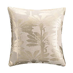 KAS Room Terrell Palm Tree Square Throw Pillow in Natural
