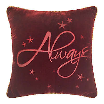 """Harry Potter """"Always"""" Square Throw Pillow"""