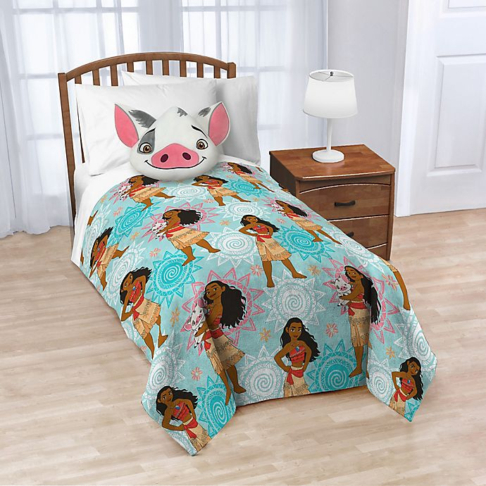 Alternate image 1 for Disney® Moana Nogginz Pillow and Throw Blanket Set in Blue