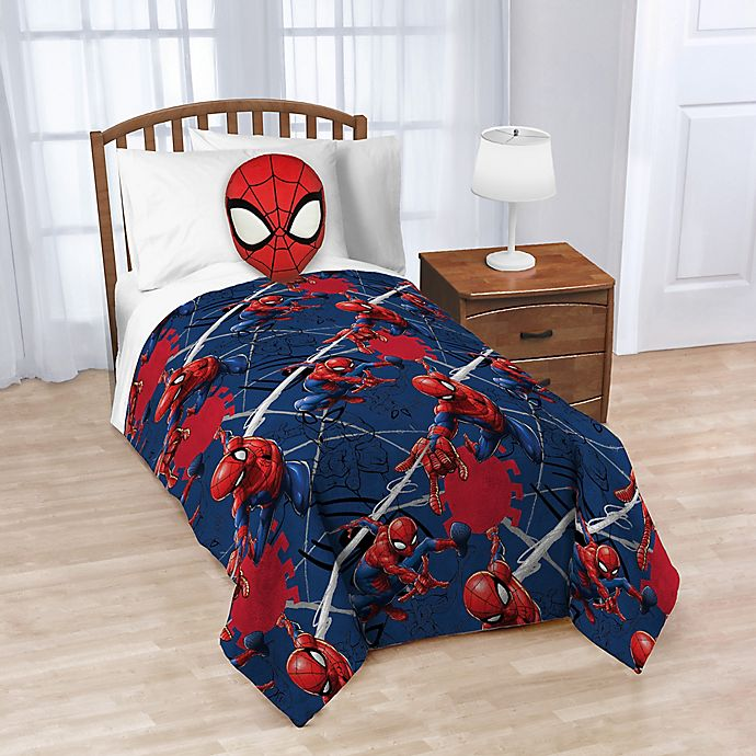 Alternate image 1 for Marvel® Spiderman Nogginz Pillow & Fleece Blanket Set