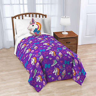 JoJo Siwa™ Nogginz Pillow and Throw Blanket in Purple