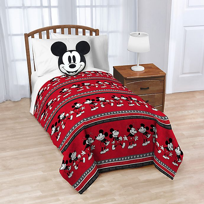 Disney 174 Mickey Mouse Nogginz Pillow And Throw Blanket In