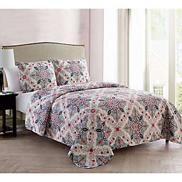 VCNY Home Wyndham Medallion Reversible Quilt Set