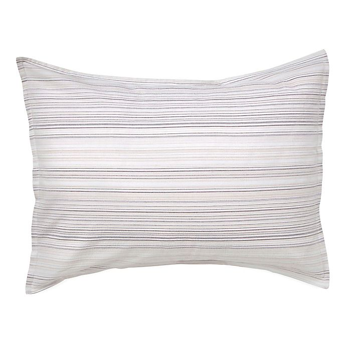 Alternate image 1 for Flatiron® Seersucker King Pillow Sham in White/Grey