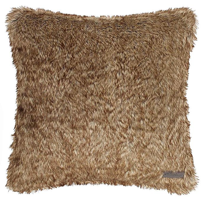 Alternate image 1 for Eddie Bauer® Summit Faux Fur Throw Pillow in Brown