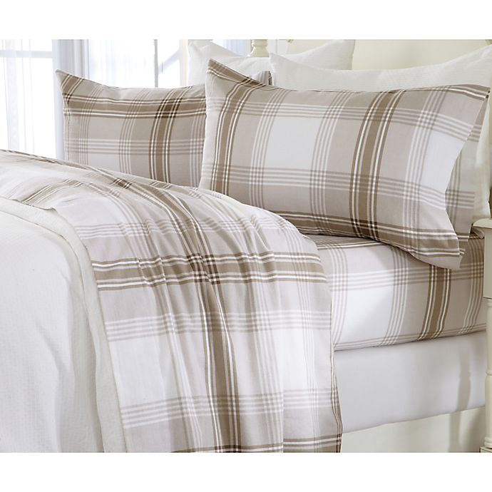 Alternate image 1 for Great Bay Home Plaid Flannel Sheet Set